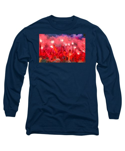 Soccer Fans Pictures Long Sleeve T-Shirt