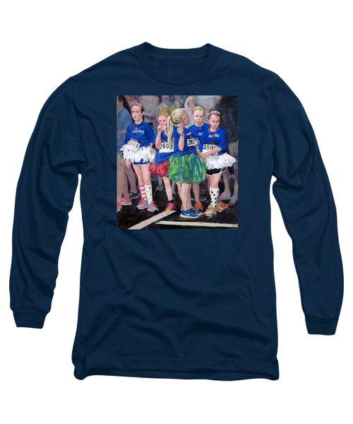 Soccer Girls Long Sleeve T-Shirt by Mark Lunde