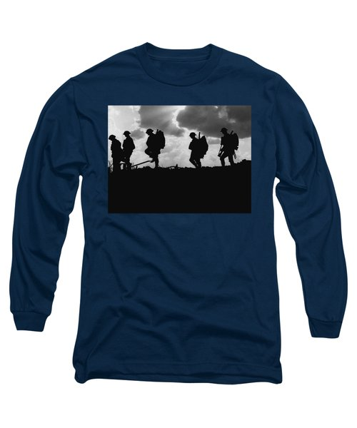 Soldier Silhouettes - Battle Of Broodseinde  Long Sleeve T-Shirt