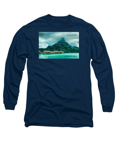 Long Sleeve T-Shirt featuring the photograph Solitude In Bora Bora by Gary Slawsky