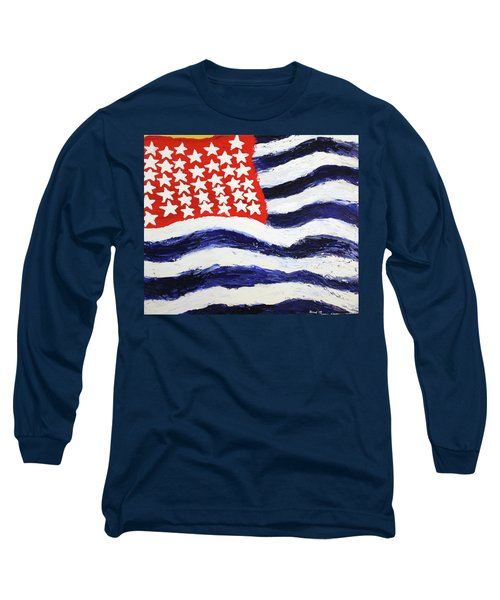 Something's Wrong With America Long Sleeve T-Shirt by Thomas Blood