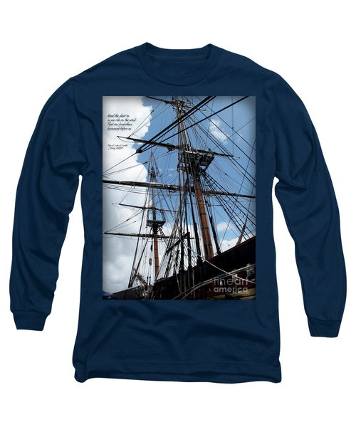 Son Of A Son Of A Sailor Quote - Tribute To The Bounty Long Sleeve T-Shirt by Joan  Minchak