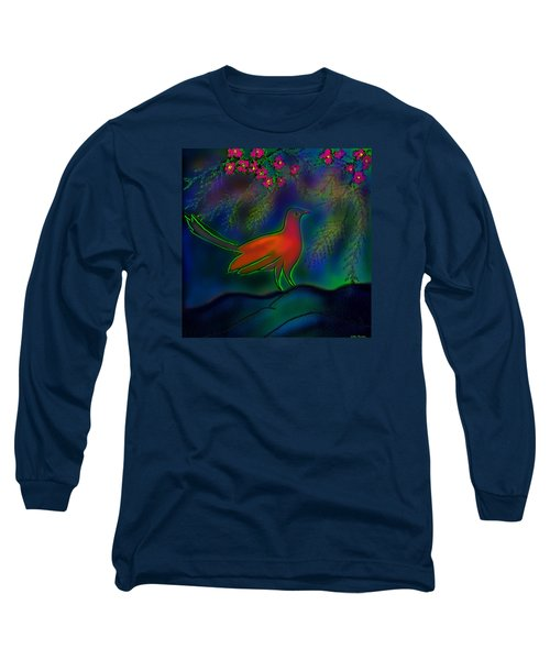 Long Sleeve T-Shirt featuring the digital art Songs Of Forest by Latha Gokuldas Panicker