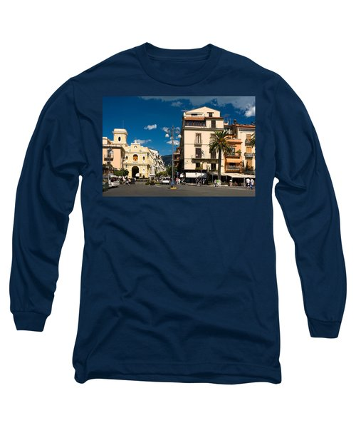 Sorrento Italy Piazza Long Sleeve T-Shirt by Sally Weigand