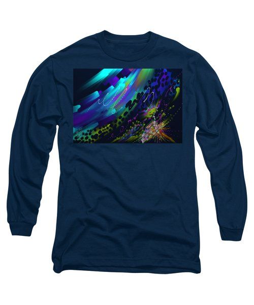 Long Sleeve T-Shirt featuring the painting Soul So Blue by Kevin Caudill