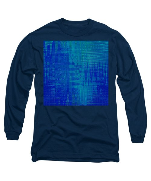 Sounds Of Blue Long Sleeve T-Shirt by Stephanie Grant