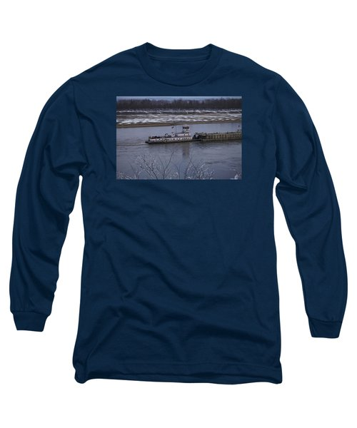 Long Sleeve T-Shirt featuring the photograph Southbound Barges by Jane Eleanor Nicholas