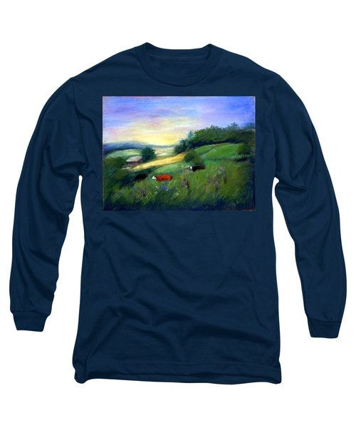 Long Sleeve T-Shirt featuring the painting Southern Ohio Farm by Gail Kirtz