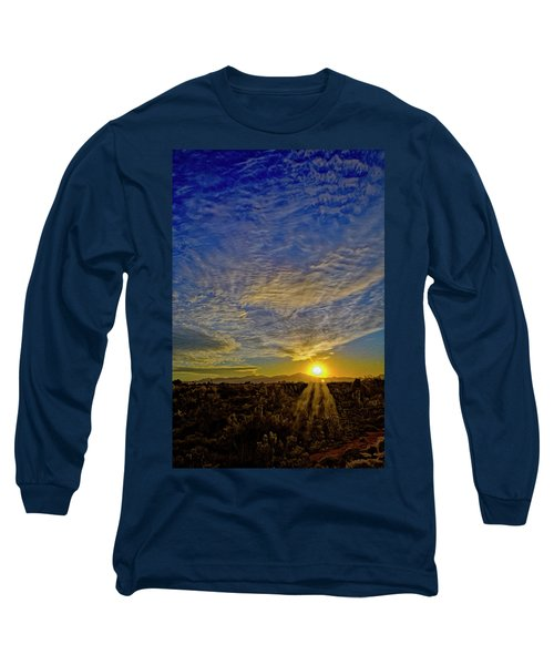 Long Sleeve T-Shirt featuring the digital art Southwest Sunset Op40 by Mark Myhaver