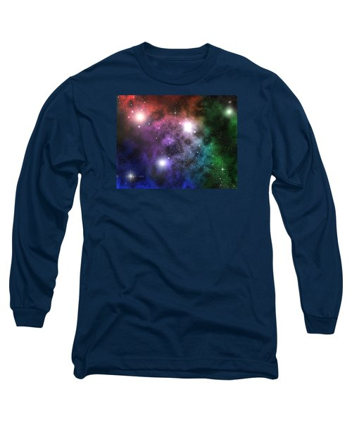 Long Sleeve T-Shirt featuring the digital art Space Clouds by Phil Perkins