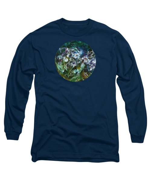 Long Sleeve T-Shirt featuring the painting Sparkle In The Shade by Mary Wolf