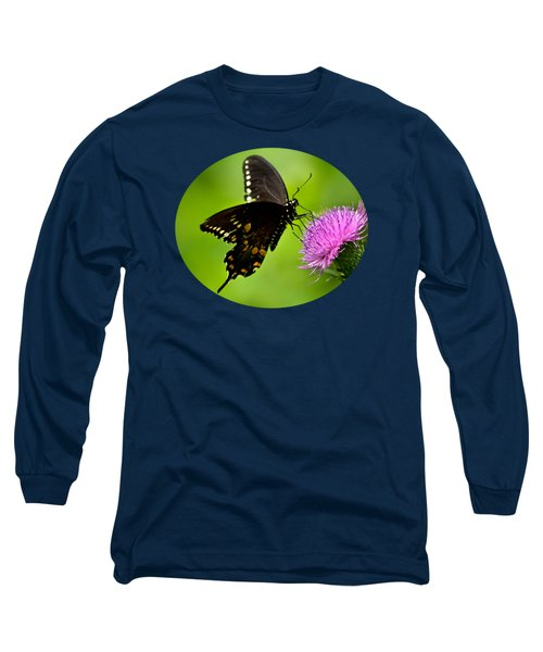 Long Sleeve T-Shirt featuring the photograph Spicebush Swallowtail Butterfly by Christina Rollo