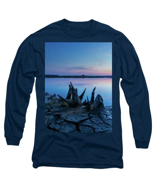 Spikes In Blue Long Sleeve T-Shirt