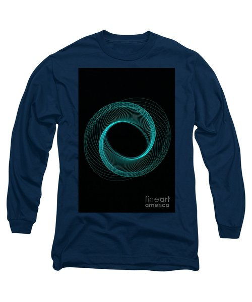 Spiral Aqua  Long Sleeve T-Shirt