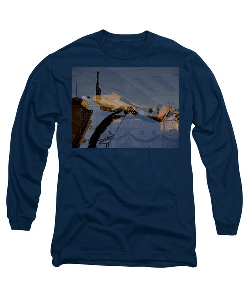 Split Roofs Long Sleeve T-Shirt by Danica Radman