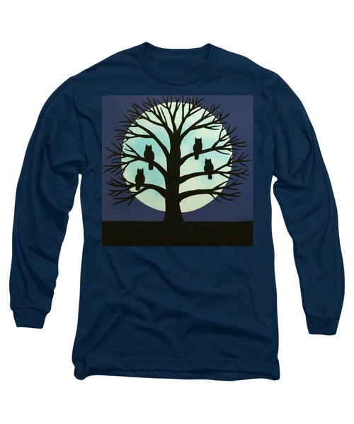 Spooky Owl Tree Long Sleeve T-Shirt