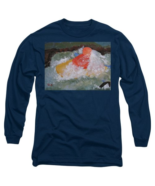 Long Sleeve T-Shirt featuring the painting Spray by Sandy McIntire