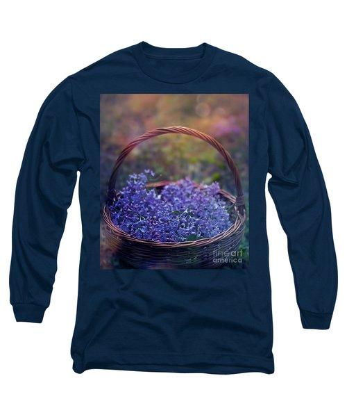 Spring Basket Long Sleeve T-Shirt by Agnieszka Mlicka