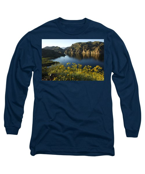 Spring Morning At The Lake Long Sleeve T-Shirt by Sue Cullumber