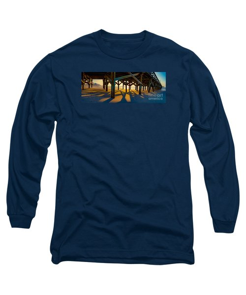 Springmaid Pier At Sunrise Long Sleeve T-Shirt by David Smith