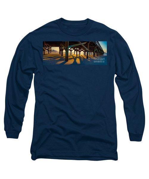 Springmaid Pier At Sunrise Long Sleeve T-Shirt
