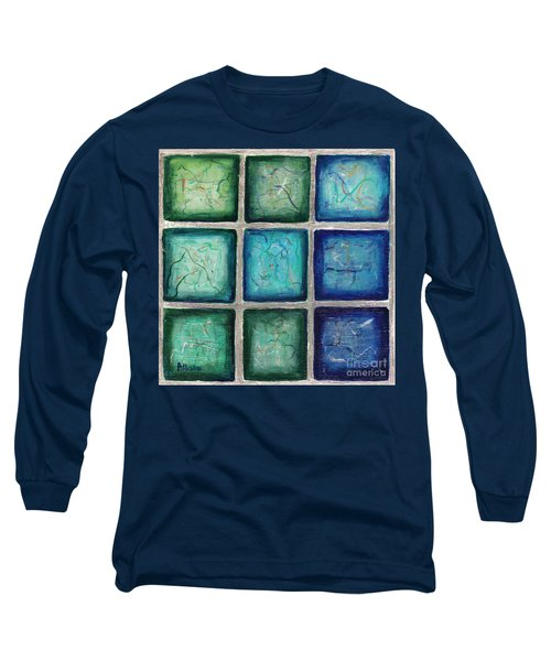 Squared In Silver  Long Sleeve T-Shirt