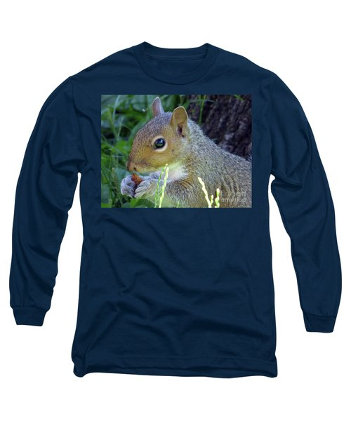 Squirrel Eating Long Sleeve T-Shirt
