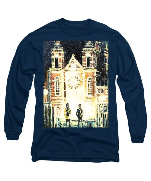St Nicolaaskerk Church Long Sleeve T-Shirt by Linda Shackelford