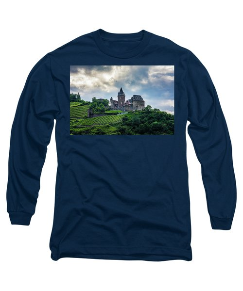 Long Sleeve T-Shirt featuring the photograph Stahleck Castle by David Morefield