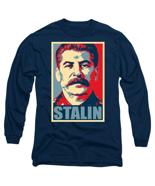 Stalin Propaganda Poster Pop Art Long Sleeve T-Shirt