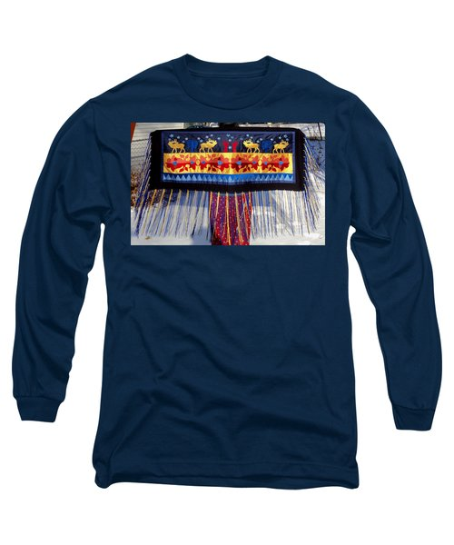 Long Sleeve T-Shirt featuring the tapestry - textile Star Whistling by Chholing Taha