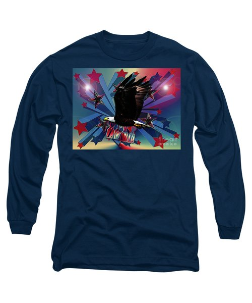 Long Sleeve T-Shirt featuring the photograph Starburst Love Eagle by Rockin Docks Deluxephotos