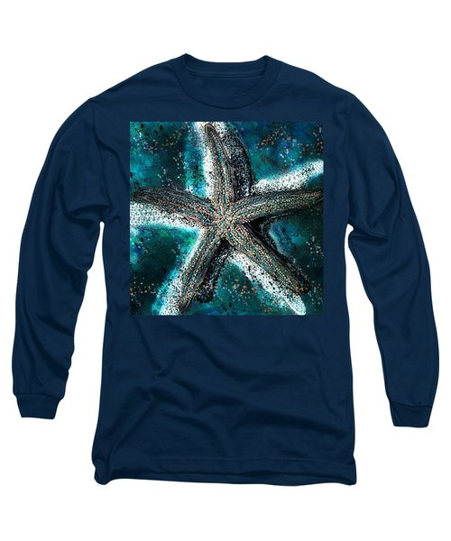 Starfish Ocean Deep Long Sleeve T-Shirt by Barbara Chichester