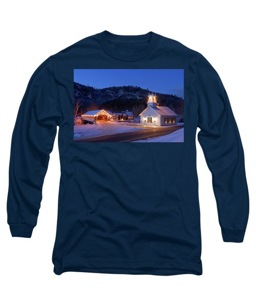 Long Sleeve T-Shirt featuring the photograph Stark New Hampshire by Robert Clifford