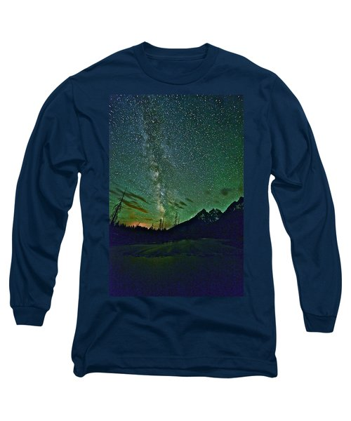 Starry Night Over The Tetons Long Sleeve T-Shirt