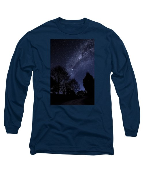Stars And Trees Long Sleeve T-Shirt by Martin Capek