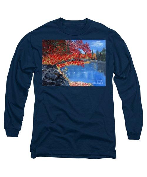 Start Of Fall Long Sleeve T-Shirt by Rod Jellison