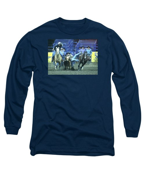 Steer Roping At The Grand National Rodeo Long Sleeve T-Shirt