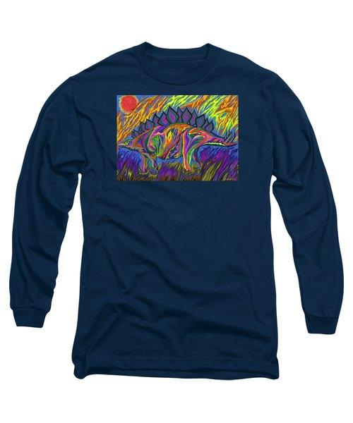 Stegasaurus Colorado Long Sleeve T-Shirt by Robert SORENSEN