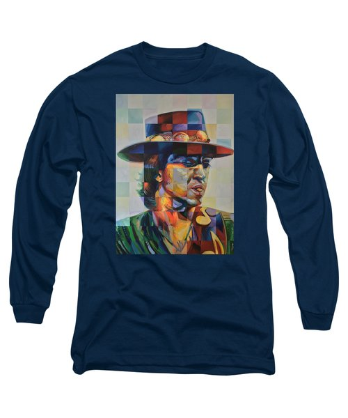 Stevie Ray Vaughan Long Sleeve T-Shirt by Steve Hunter