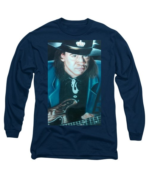 Stevie Ray Vaughn Long Sleeve T-Shirt by Darren Robinson