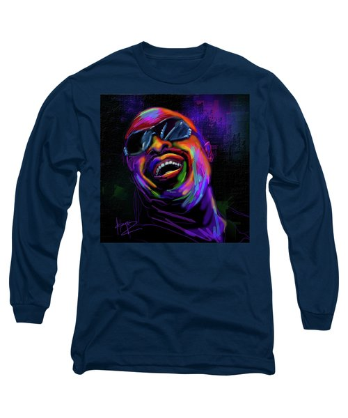 Stevie Wonder Long Sleeve T-Shirt by DC Langer