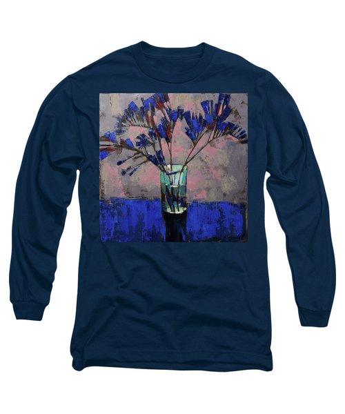 Still Life. Blue Crystal. Long Sleeve T-Shirt