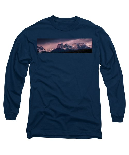 Long Sleeve T-Shirt featuring the photograph Storm On The Peaks by Andrew Matwijec