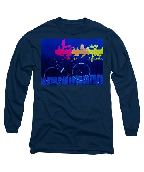 Street Art Bike In New York Long Sleeve T-Shirt