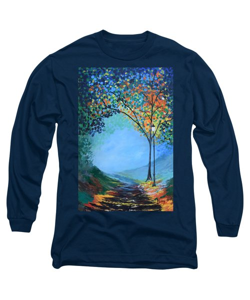 Street Lamp Long Sleeve T-Shirt by Gary Smith
