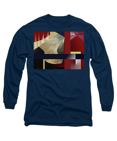 Structure 0217 Long Sleeve T-Shirt by Walter Fahmy