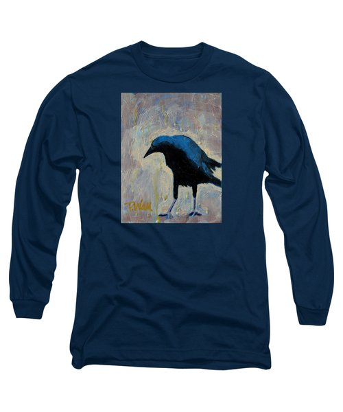 Long Sleeve T-Shirt featuring the painting Struttin' by Pattie Wall