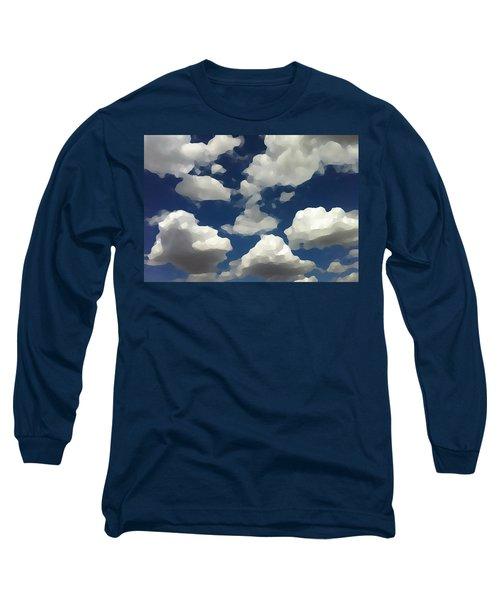 Summer Clouds In A Blue Sky Long Sleeve T-Shirt