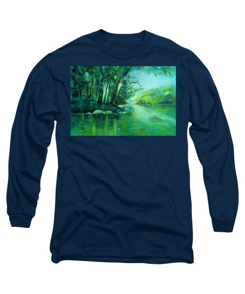 Summer Evening At The River Rhine Long Sleeve T-Shirt